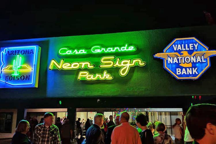 CASA GRANDE NEON SIGN PARK OPENS